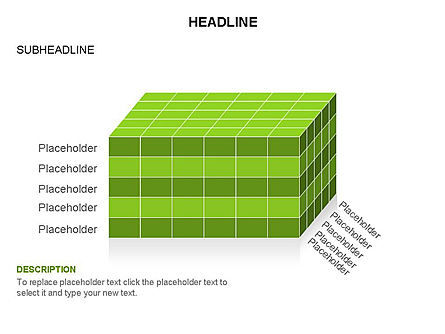 3D Cubes Toolbox, Slide 9, 03354, Shapes — PoweredTemplate.com