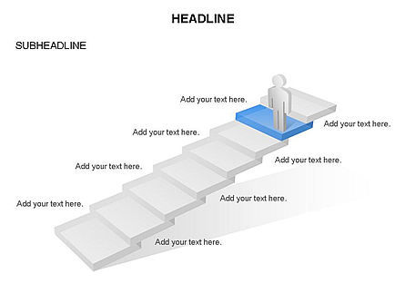 Career Steps Toolbox, Slide 4, 03361, Stage Diagrams — PoweredTemplate.com