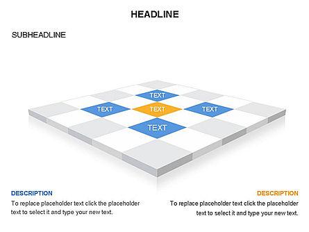 Checkered Tiles Toolbox, Slide 18, 03367, Shapes — PoweredTemplate.com
