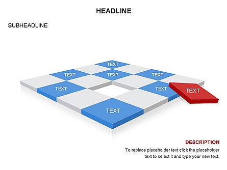 Checkered Tiles Toolbox, Slide 21, 03367, Shapes — PoweredTemplate.com