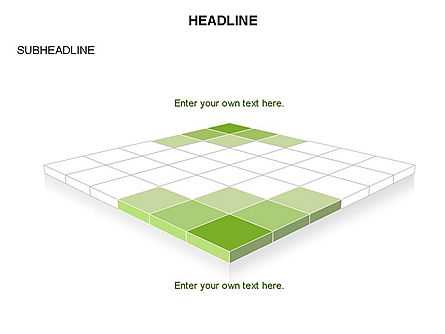 Checkered Tiles Toolbox, Slide 24, 03367, Shapes — PoweredTemplate.com