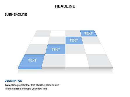 Checkered Tiles Toolbox, Slide 40, 03367, Shapes — PoweredTemplate.com