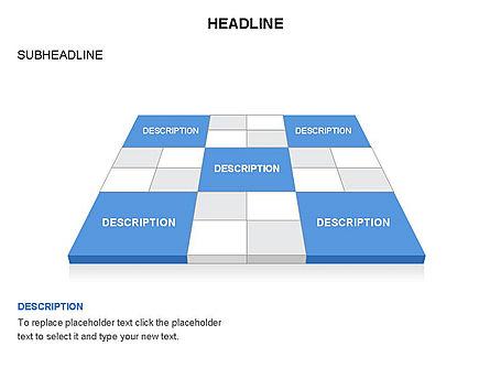 Checkered Tiles Toolbox, Slide 41, 03367, Shapes — PoweredTemplate.com