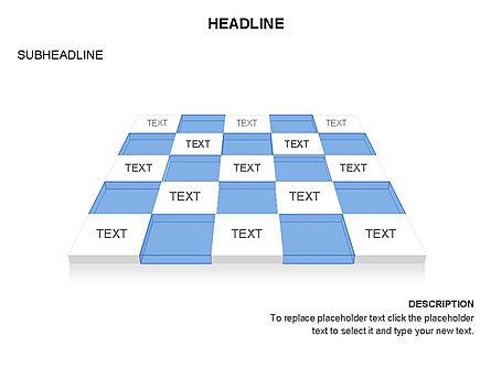 Checkered Tiles Toolbox, Slide 47, 03367, Shapes — PoweredTemplate.com