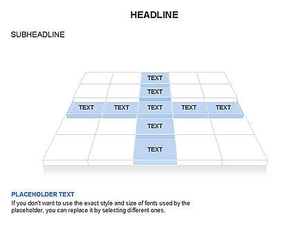 Checkered Tiles Toolbox, Slide 54, 03367, Shapes — PoweredTemplate.com