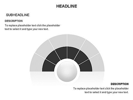 Semicircle and Sector Toolbox , Slide 26, 03368, Shapes — PoweredTemplate.com