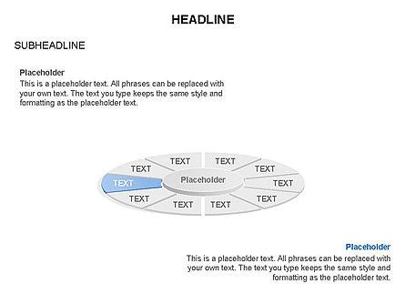 Circle Divided into Sectors Toolbox, Slide 10, 03369, Shapes — PoweredTemplate.com