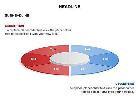 Circle Divided into Sectors Toolbox, Slide 15, 03369, Shapes — PoweredTemplate.com