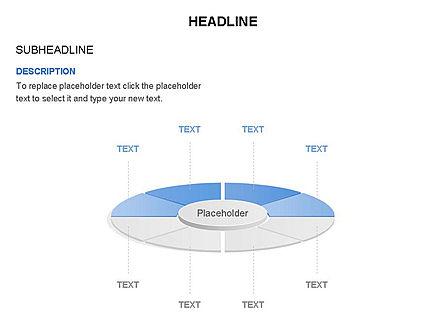 Circle Divided into Sectors Toolbox, Slide 19, 03369, Shapes — PoweredTemplate.com