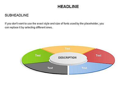 Circle Divided into Sectors Toolbox, Slide 23, 03369, Shapes — PoweredTemplate.com