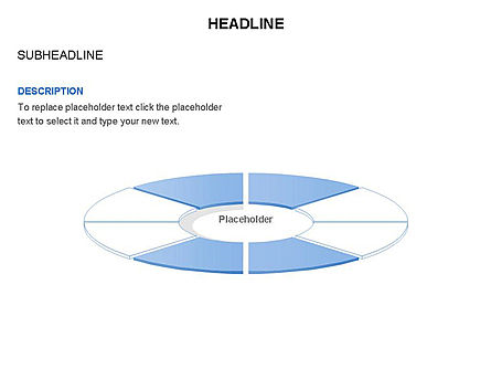 Circle Divided into Sectors Toolbox, Slide 24, 03369, Shapes — PoweredTemplate.com