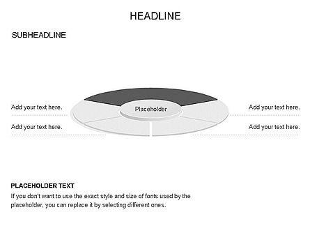 Circle Divided into Sectors Toolbox, Slide 25, 03369, Shapes — PoweredTemplate.com