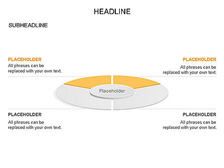 Circle Divided into Sectors Toolbox, Slide 26, 03369, Shapes — PoweredTemplate.com
