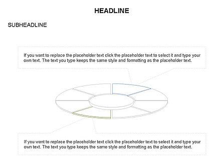 Circle Divided into Sectors Toolbox, Slide 28, 03369, Shapes — PoweredTemplate.com