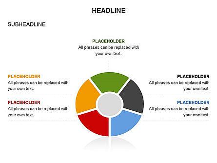 Circle Divided into Sectors Toolbox, Slide 30, 03369, Shapes — PoweredTemplate.com