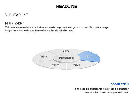 Circle Divided into Sectors Toolbox, Slide 5, 03369, Shapes — PoweredTemplate.com