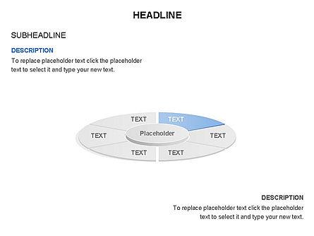 Circle Divided into Sectors Toolbox, Slide 6, 03369, Shapes — PoweredTemplate.com
