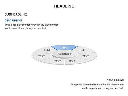 Circle Divided into Sectors Toolbox, Slide 7, 03369, Shapes — PoweredTemplate.com