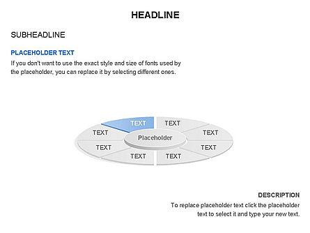 Circle Divided into Sectors Toolbox, Slide 8, 03369, Shapes — PoweredTemplate.com