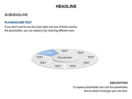 Circle Divided into Sectors Toolbox, Slide 9, 03369, Shapes — PoweredTemplate.com