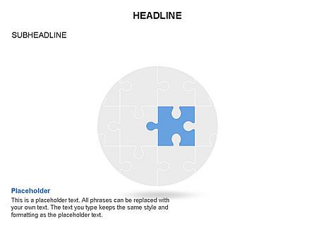 Circle and Puzzle Pieces Toolbox, Slide 4, 03370, Puzzle Diagrams — PoweredTemplate.com