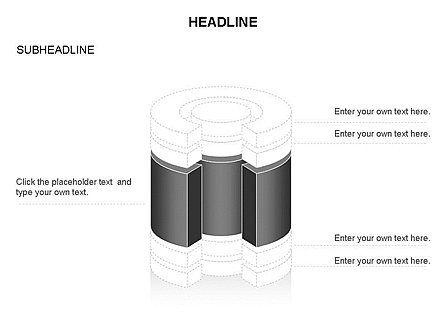 Cylinder Cross Section Toolbox, Slide 11, 03374, Shapes — PoweredTemplate.com