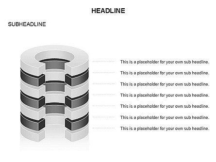 Cylinder Cross Section Toolbox, Slide 12, 03374, Shapes — PoweredTemplate.com