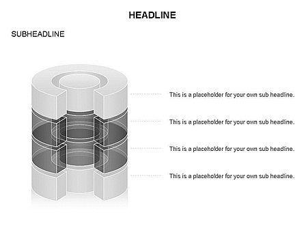 Cylinder Cross Section Toolbox, Slide 3, 03374, Shapes — PoweredTemplate.com
