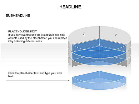 Layered Pie Chart Toolbox, Slide 10, 03376, Pie Charts — PoweredTemplate.com