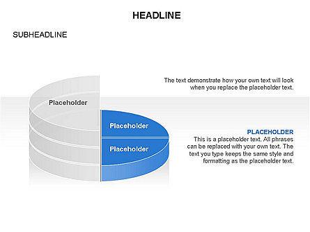 Layered Pie Chart Toolbox, Slide 11, 03376, Pie Charts — PoweredTemplate.com