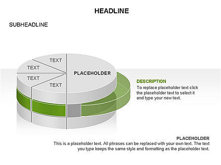 Layered Pie Chart Toolbox, Slide 14, 03376, Pie Charts — PoweredTemplate.com