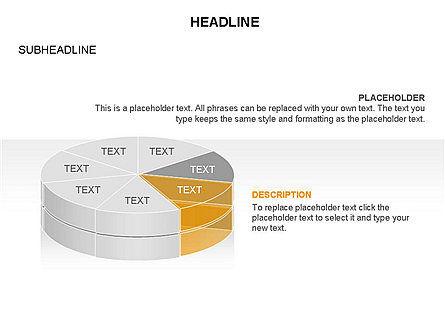 Layered Pie Chart Toolbox, Slide 15, 03376, Pie Charts — PoweredTemplate.com