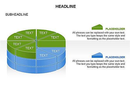 Layered Pie Chart Toolbox, Slide 6, 03376, Pie Charts — PoweredTemplate.com