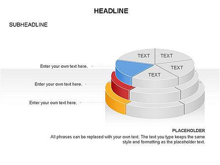 Layered Pie Chart Toolbox, Slide 8, 03376, Pie Charts — PoweredTemplate.com
