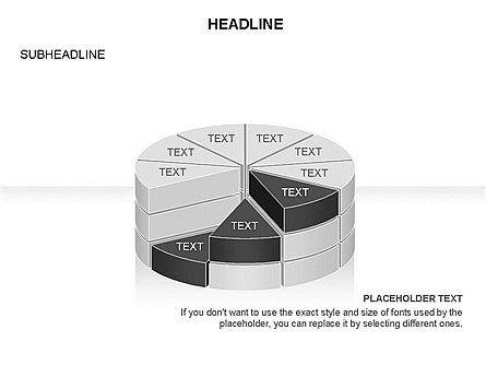 Layered Pie Chart Toolbox, Slide 9, 03376, Pie Charts — PoweredTemplate.com