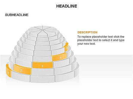 Round Stage Pyramid Toolbox, Slide 12, 03378, Pie Charts — PoweredTemplate.com