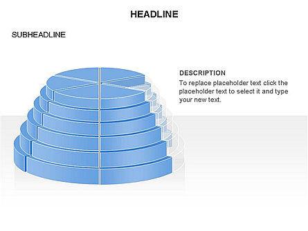 Round Stage Pyramid Toolbox, Slide 13, 03378, Pie Charts — PoweredTemplate.com
