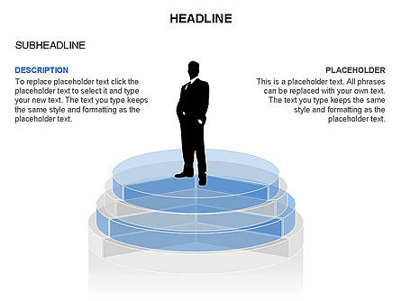 Round Stage Pyramid Toolbox, Slide 14, 03378, Pie Charts — PoweredTemplate.com