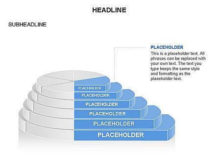 Round Stage Pyramid Toolbox, Slide 15, 03378, Pie Charts — PoweredTemplate.com
