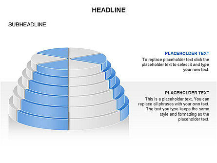 Round Stage Pyramid Toolbox, Slide 18, 03378, Pie Charts — PoweredTemplate.com