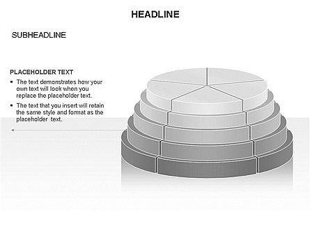 Round Stage Pyramid Toolbox, Slide 19, 03378, Pie Charts — PoweredTemplate.com
