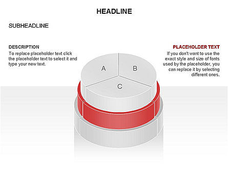 Round Stage Pyramid Toolbox, Slide 20, 03378, Pie Charts — PoweredTemplate.com