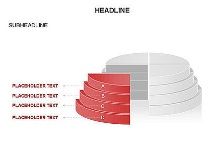 Round Stage Pyramid Toolbox, Slide 5, 03378, Pie Charts — PoweredTemplate.com