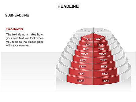 Round Stage Pyramid Toolbox, Slide 8, 03378, Pie Charts — PoweredTemplate.com