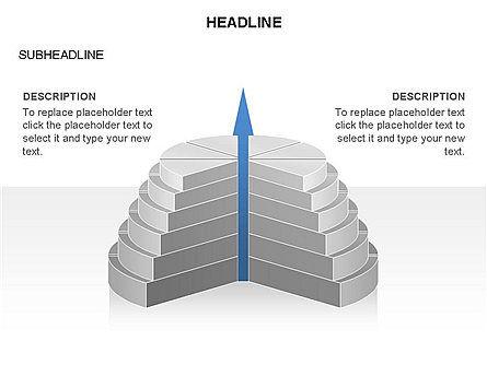Round Stage Pyramid Toolbox, Slide 9, 03378, Pie Charts — PoweredTemplate.com