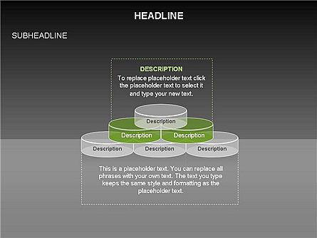 Sliced Agenda Toolbox, Slide 11, 03379, Stage Diagrams — PoweredTemplate.com