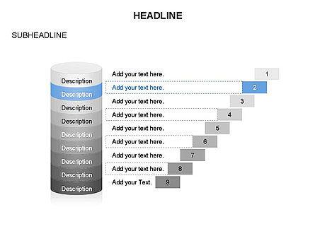 Sliced Agenda Toolbox, Slide 13, 03379, Stage Diagrams — PoweredTemplate.com