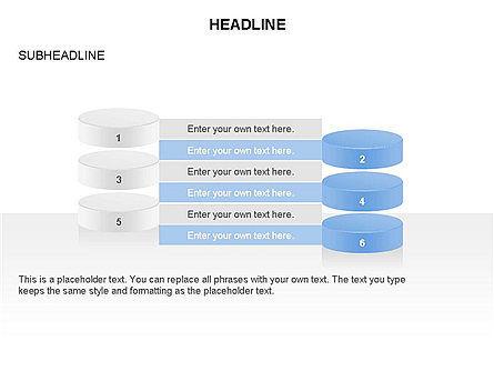 Sliced Agenda Toolbox, Slide 17, 03379, Stage Diagrams — PoweredTemplate.com