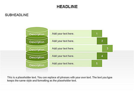 Sliced Agenda Toolbox, Slide 21, 03379, Stage Diagrams — PoweredTemplate.com