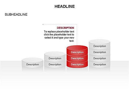 Sliced Agenda Toolbox, Slide 22, 03379, Stage Diagrams — PoweredTemplate.com